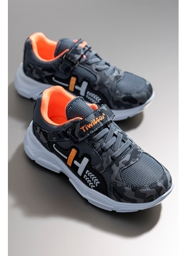 Tonny Black Füme Oranj Çocuk Spor Ayakkabı Tbz13 Füme